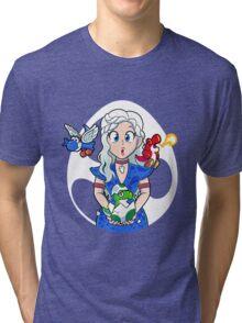 Prehistoric Princess Peach Tri-blend T-Shirt
