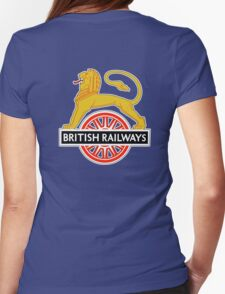 BRITISH RAILWAYS, SIGN, First logo of British Railways, 'Cycling Lion' Womens Fitted T-Shirt