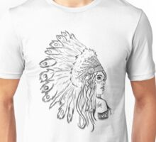 Red Indian - Line Unisex T-Shirt