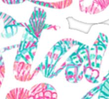 "Lilly Pulitzer Inspired | ""Let's Stay Home"" Sticker"