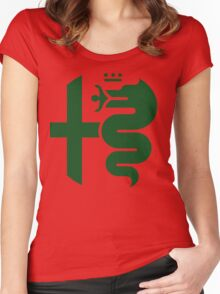 Green Alfa Romeo of Birmingham Women's Fitted Scoop T-Shirt
