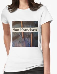 Francisco the Peacock Womens Fitted T-Shirt