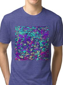 Jagged Hipster Geometric Pattern Tri-blend T-Shirt