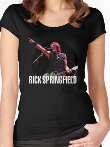 rick springfield 2 Women's Fitted Scoop T-Shirt