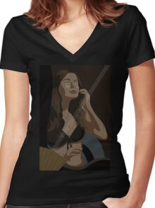 Reflection Beauty Women's Fitted V-Neck T-Shirt