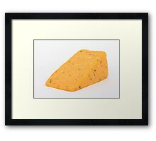 Cheese and herbs Framed Print