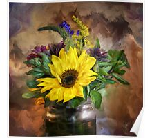 A Jar Of Wildflowers Poster