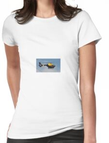 Police Helicopter. Womens Fitted T-Shirt