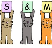 Lesbian wedding cartoon cats. Sticker
