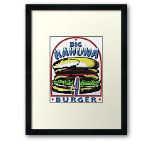 Big Kahuna Burger t-shirt (Pulp Fiction, Tarantino, Bad Motherf**ker) Framed Print