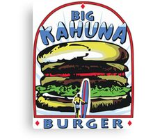 Big Kahuna Burger t-shirt (Pulp Fiction, Tarantino, Bad Motherf**ker) Canvas Print