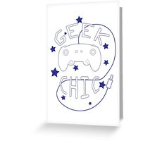 Geek Chic Simplistic Greeting Card