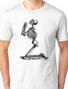 Skeleton Begging Skull Funny Tumblr Unisex T-Shirt
