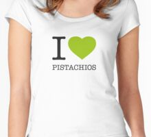 I ♥ PISTACHIOS Women's Fitted Scoop T-Shirt