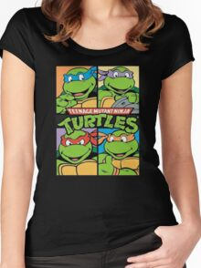 Teenage Mutant Ninja Turtles All  Women's Fitted Scoop T-Shirt