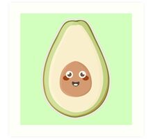 Kawaii Avocado Art Print