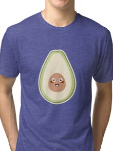 Kawaii Avocado Tri-blend T-Shirt