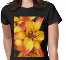 Fire lily Womens Fitted T-Shirt