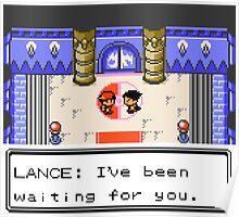 Pokemon Generation II - Champion Lance wants to fight! Poster