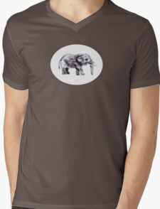 Thumbephant Mens V-Neck T-Shirt