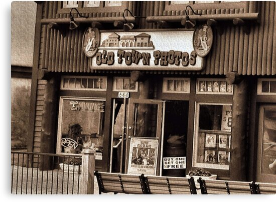 """""""Gatlinburg, Tennessee Series, #5... 'The Old Timey Photo Shop, 3rd Picture'""""... prints and products   by © Bob Hall"""