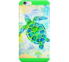 Sea Turtle with background by Jan Marvin iPhone Case/Skin