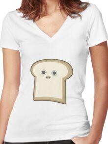 Kawaii Bread Women's Fitted V-Neck T-Shirt