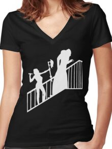 Buffy VS Orlok II! Women's Fitted V-Neck T-Shirt