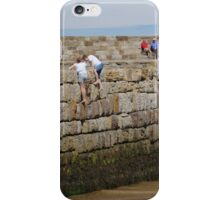 Climbing The Pier Wall iPhone Case/Skin
