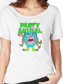 Party Animal Monster Cartoon Women's Relaxed Fit T-Shirt