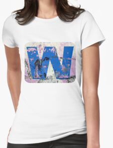 Blue W Womens Fitted T-Shirt