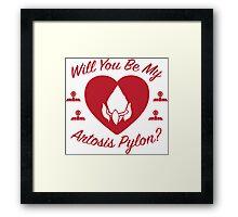 Will you be my Artosis Pylon? Framed Print