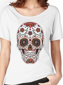 Skull floral 3 Women's Relaxed Fit T-Shirt
