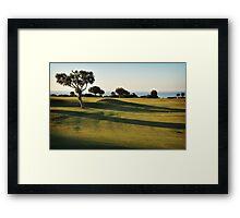 Shadows on the 9th Framed Print