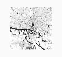 Hamburg City Map Gray Unisex T-Shirt
