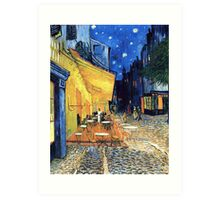 Vincent van Gogh - The Cafe Terrace on the Place de Forum in Arles at Nigh Art Print