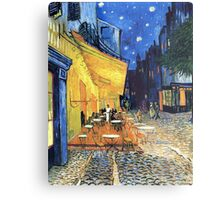 Vincent van Gogh - The Cafe Terrace on the Place de Forum in Arles at Nigh Metal Print