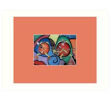 Time After Time Whimsical Colorful Art Print