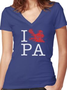 I Crank PA Women's Fitted V-Neck T-Shirt