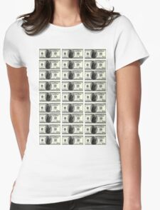 $100 Grimace Dollar Womens Fitted T-Shirt
