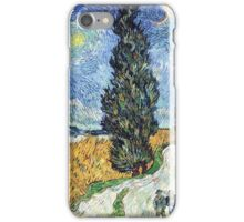Vincent van Gogh - Road with Cypress and Star iPhone Case/Skin