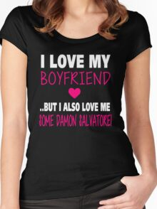 Love Me Some Damon Salvatore Women's Fitted Scoop T-Shirt