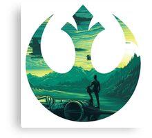 Star Wars VII - Poe Starship Canvas Print