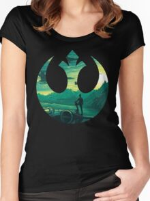 Star Wars VII - Poe Starship Women's Fitted Scoop T-Shirt