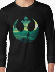 Star Wars VII - Poe Starship Long Sleeve T-Shirt