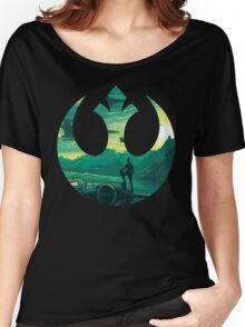 Star Wars VII - Poe Starship Women's Relaxed Fit T-Shirt