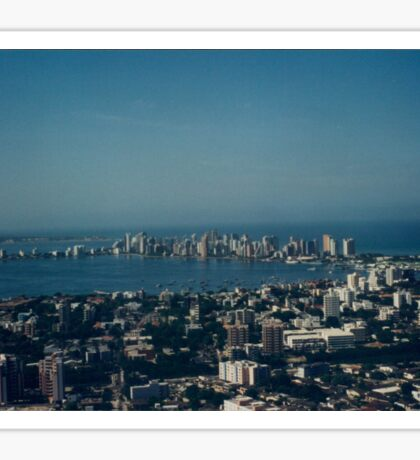 Aerial View, Cartagena, Colombia  Sticker