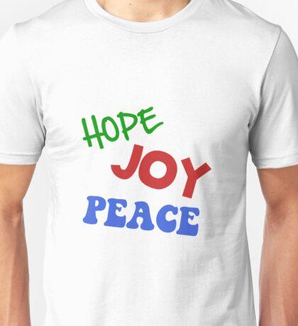 Hope Joy Peace Unisex T-Shirt