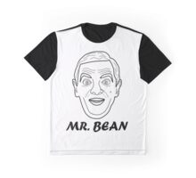 Mr Bean Head Illustration Graphic T-Shirt