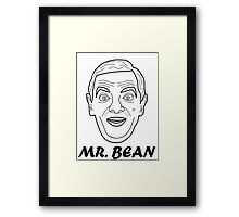 Mr Bean Head Illustration Framed Print